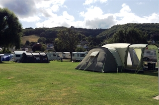 Porlock Caravan Park enjoys a beautiful Exmoor setting